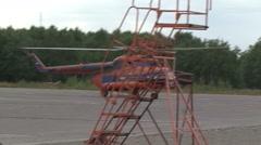 Helicopter aerodrome Stock Footage