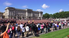 Buckingham Palace (in 4K), London, UK Stock Footage