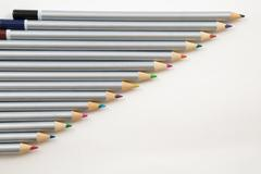Colouring Pencils in a line - stock photo