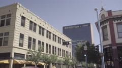 Albuquerque Downtown - Pedestrian Running - Tilt Stock Footage