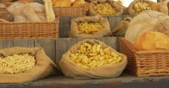 pasta bread - stock footage
