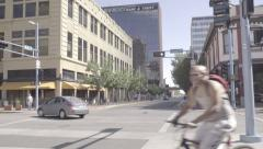 Albuquerque - Downtown Traffic 2 - Central - Pan - 4k Stock Footage