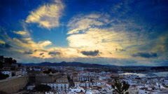 Sunset in Ibiza time lapse video - stock footage