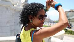 Cuban woman dancing in Havana, Cuba Stock Footage
