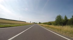 Drivers View on rural road in Germany Stock Footage