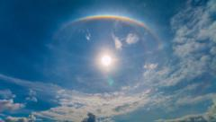 Time Lapse Beautiful The Sun Halo (Circumscribed Halo) Stock Footage