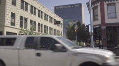 Albuquerque - Downtown Traffic - Central - Long Pan - 4K Stock Footage