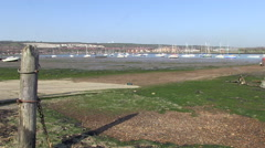 Portchester Lake Portsmouth Harbour in Hampshire Stock Footage