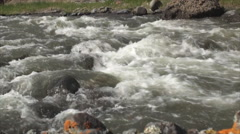 River in yellowstone park 3 Stock Footage