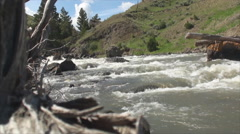 River in yellowstone park 4 Stock Footage