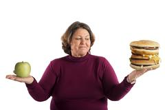 Undecided start diet Stock Photos