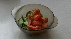 Ungraded: Vegetable Salad Stock Footage