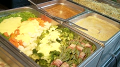 HD video of a nice buffet in a restaurant Stock Footage