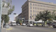 Downtown Albuquerque - Heavy Traffic - Route 66 - Pan - 4k Stock Footage