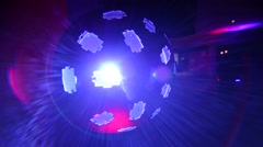 Light effects in a discotheque Stock Footage