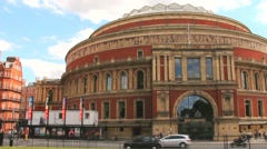 Royal Albert Hall, London, England, UK, in late afternoon daylight Stock Footage