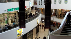 Dizengoff Center Shopping Mall  in Tel Aviv, Israel Stock Footage