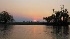 Corroboree billabong sunset Stock Footage