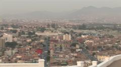 Stock Video Footage of Beautiful Skyline of Lima, Peru at Dusk