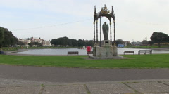 Canoe Lake Southsea Portsmouth in Hampshire Stock Footage