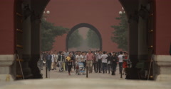 Video of Tiananmen Gate and entrance to the Forbidden City in Beijing Stock Footage