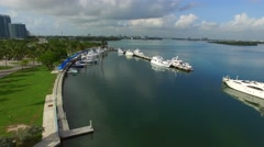 Aerial video Haulover Park Stock Footage