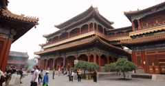 video of the Lama Temple in Beijing, China Stock Footage