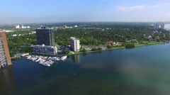 Miami Biscayne Bay architecture and marina 2 - stock footage