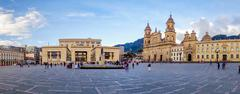 Primary Cathedral of Bogota, historic and religous landmark, located in Bolivar Stock Photos