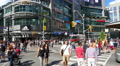 Yonge Dundas Square Intersection Crosswalk People Footage