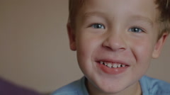 Smiling Boy Stock Footage