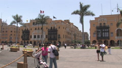 Downtown Historic Lima, Peru Stock Footage