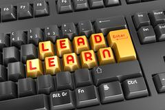 Lead and Learn - stock illustration
