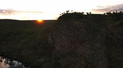 Nitmiluk  gorge sunset Stock Footage