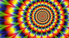 Hippy Tie Dyed Radial Pattern Animation Background - stock footage