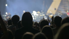 Audience Welcoming the Musical Band Show Stock Footage