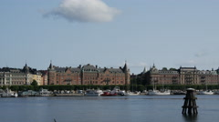 Pan from builings in Östermalm Stockholm Sweden Stock Footage
