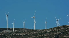 Tarifa, Spain. Wind generators - stock footage