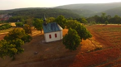 Czech church on the hill. - stock footage