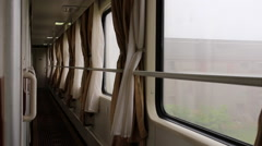 sleeper carriage train is driving - stock footage