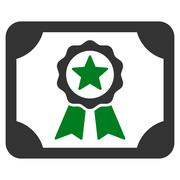 Certificate icon from Business Bicolor Set - stock illustration