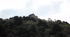 4K video of a watchtower on the Great Wall of China Stock Footage