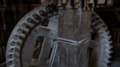Windmill Gears Tilt Up - stock footage