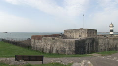 Southsea Castle in Hampshire Stock Footage