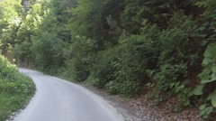 Lush greenery. Road in the Rhodope Mountains, Bulgaria Stock Footage