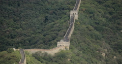 A section of The Great Wall of China in 4K Stock Footage