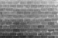 Stock Photo of Closeup of grey block wall