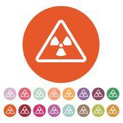 The radiation icon. Radiation symbol. Flat - stock illustration