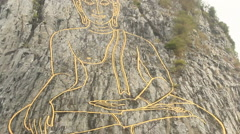 Buddha Mountain Chee Chan in Pattaya Thailand Stock Footage