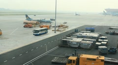Boarding of a plane and depatch to runway, Asia Stock Footage